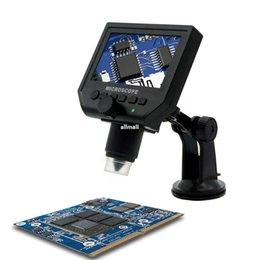 """Schermo della scheda madre online-Freeshipping 1-600x USB microscopio elettronico digitale portatile 8 LED VGA microscopio con 4.3 """"HD LED Screen per pcb scheda madre riparazione"""