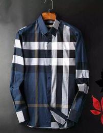 Wholesale Plaid Shirt Men Xl - 2017 American business brand slim plaid shirt, long sleeved shirts, men's leisure on tenterhooks, Medusa men shirts
