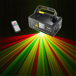 Wholesale Scanner Led Stage Light - Wholesale-New Mini Remote DMX 200mW RGY Laser Stage Lighting Scanner DJ Dance Party Show Light LED Effect Projector Mix Yellow Red Green