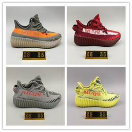 Wholesale Baby Winter Running Shoes - size 26-35 baby BOOST 350 V2 Running Shoes Kanye West SPLY 350 Boost Beluga 2.0 Baby Sneaker Kids Athletic Shoes