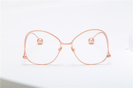 Wholesale Grade Spectacle Frame - Women round oval eyeglasses glasses frames high grade light weight solid color Spectacles plain glasses vintage retro design