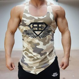 Wholesale Men Under Vest - 2017 T Shirts For Men Fitness Vest Boy BodyMale Breathable Vest Thermal Under Top Tees Tank Tops Fitness Tights High Flexibility