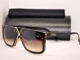 Wholesale Germany Green - Plank Cazals 643 001 Amber Vintage Luxury Sunglasses Brown Frame Cazals Legends Eyeglasses Plastic Full Rim Mens Womens Germany Eyewear