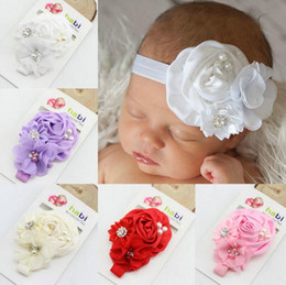 Wholesale Bit Flower - High quality Children's baby rose flower belt pearl alloy bit with TG064 mix order 30 pieces a lot