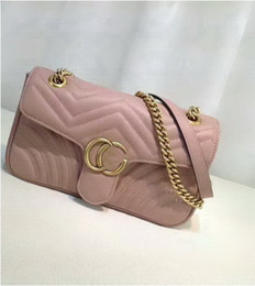 Wholesale Womens Cross Body Leather Bag - New style High quality 26cm Womens Fashion Brand Ladies Handbags Totes Shoulder bags Messenger Cross Body Bags Leather handbags gold chain