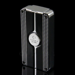 Wholesale Cohiba Torch - COHIBA Black Behike Classic 3 Torch Jet Flame Cigar Cgarette Lighter With Punch and free shipping