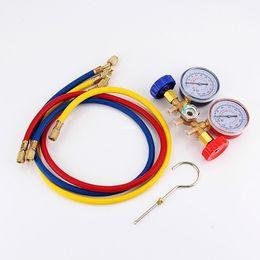 Wholesale Ac Manifold - Freeshipping Refrigeration Air Conditioning R22 R12 R502 A C AC Diagnostic Manifold Gauge Set