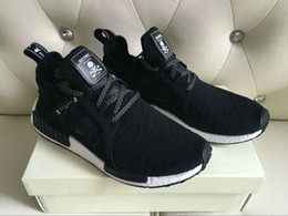 Wholesale Flat Bottom Shoes - 2017 NMD x MASTERMIND Top Best Quality REAL BOOST Bottom With Nipples NMD_XR1 MMJ BA7926 Men Running Shoes Keychain Free Shipping