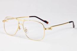 Wholesale Plastic Aviator Glasses - Luxury Brand Designer Aviator Sunglasses for Men Brand Designer Mirror Vintage Retro Sun Glasses For Women Gafas De Sol