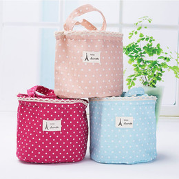 Wholesale Lunch Tote Wholesale - Thermal Cooler Waterproof Insulated Lunch Portable Carry Tote Storage Bag Linen Cotton Picnic Carry Case ZA4145