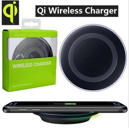 Wholesale Box Package For Usb Cable - Universal Qi Wireless Charger fast Charging pad For Samsung Galaxy S6 S7 Edge mobile pad With micro usb cable and packaging box