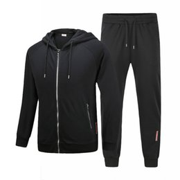 Wholesale Sweater Zippers Sleeves - 2017 Young male sports suit Brand Men's Jacket par Hoodies Sweaters casual hooded sweater suit men sport suit