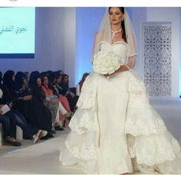 robes de sirène à deux pièces détachables Promotion robe de noiva 2 em 1 Robe de mariée longue sirène avec train amovible Robe de créateur en deux pièces