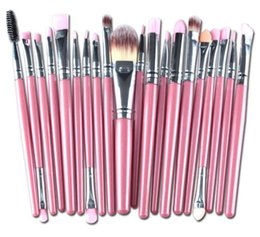 Wholesale Professional 22 Pcs Makeup Brush - New arrival 20 Pcs 22 Color Professional Soft Cosmetics Beauty Make up Brushes Set Kabuki Kit Tools maquiagem Makeup Brushes