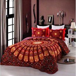 Wholesale Wholesale Cotton Duvet Cover - New Embroidered bedding set Cotton Bohemian Qualified Soft Duvet Cover and Pillowcases Bedding pieces Set 230*250 cm 3pcs