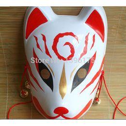 máscara japonesa Desconto Eco Mão Amiga -Painted Fox Mask Endulge japonesa completa Rosto de pvc animal Máscaras Halloween Masquerade Cosplay Partido frete grátis