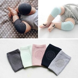 Wholesale Crawling Knee - Hot ! 10Pairs Baby Crawling Knee Pads Super Breathable Adjustable Kneepads Knee Elbow Pads Arm Pads Safety Protector For 9-24 Months