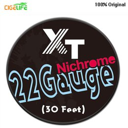 Wholesale Resistance Heating Wire Nichrome - xtBest Nichrome 80 Wire 30 Feet AWG 22 24 26 28 30 32 Heating Resistance Coil Wick for DIY RDA DHL Free Nickel-chromium electrothermal alloy