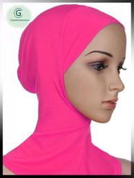 Wholesale Girls Fancy Summer Hats - Wholesale multi color plain Arab women muslim fancy viscose cotton fashion Arab khimar head scarf hijab