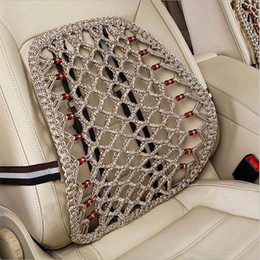 Wholesale Auto Seat Cushion Back Support - Seat Supports Car Cushion Pad Back Lumbar Support Seat Massage Back Cushion Universal Auto Interior Accessories Car Styling