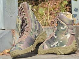 Durevole High Top Tactical Boot Materiale impermeabile Scarpe Army Men Ankle Desert Boots Autunno Primavera Viaggi Escursionismo Outdoor Arrampicata Scarpe da scarpe da trekking scarpe basse fornitori