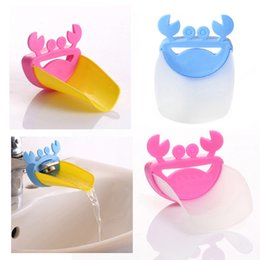 Wholesale Crab Tools - Wholesale- 1pc Bathroom Products Cute Bathroom Sink Faucet Chute Extender Crab Children Kids Washing Hands tools BS