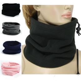 Wholesale 3in1 Ring - Wholesale- 3in1 Winter Unisex Women Men Sports Thermal Fleece Scarf Snood Neck Warmer Face Mask Beanie Hats