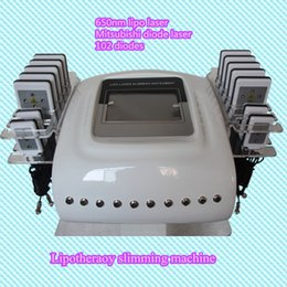 Wholesale Diode Laser Lipolysis - Laser Lipo Slimming Pad Lipo Laser Lipolysis Body Shaping Fast Weight Loss Device Laser Diodes Fat Removal Machine low tax