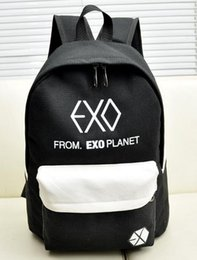 Wholesale exo bags - Wholesale- 2017 new Women's Colorful Canvas Backpacks Rucksacks Men Student School Bags For Girl boy Casual Travel EXO bags