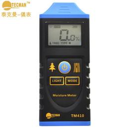 Wholesale Moisture Testing - Wholesale- TM410 Professional Digital Wood Moisture Meter LCD Backlight Display Hygrometer Test Probe Humidity Tester