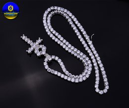 Wholesale Necklace Silver 925 4mm - 4mm high quality Iced Out 1 Row Zircon tennis 925 sterling silver pendant necklace For men & women gifts rhodium plated jewelry