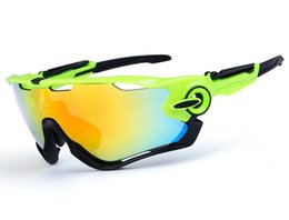 Wholesale Eyewear Bag - Top quality 3 lens Cycling bike glasses uv 400 polarized cycling glasses sport goggles outdoor eyewear free shipping with bag box