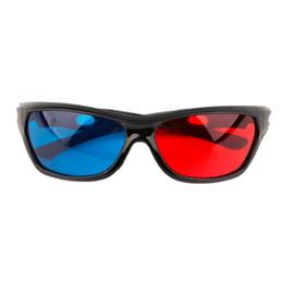 Canada Vente en gros - Lunettes de vue en plastique 3D universelles / Oculos / Vision en verre 3D bleu cyan rouge Anaglyphe 3D Movie Game DVD vision / cinema Offre
