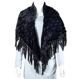 Wholesale Sequin Scarfs - New Sequins Tassel Faux Fur Scarf Women Warm Winter Shawls Wrap Pashmina Black Khaki and GreenDM#6