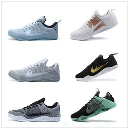 Wholesale Cheap Black Boots Free Shipping - Outlet Kobe XI Elite Low Basketball Shoes Men 2016 Retro KB 11 Boots High Quality Sneakers Cheap Sports Shoes Free Shipping Size 7-12