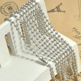 Wholesale Iron Beads Jewelry - Hot Selling 5 Colors 70cm Beads Iron Chains Necklace Accessories without Pendant DIY Jewelry Parts Good Quality