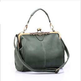 Wholesale Brand New Handbag Price - Wholesale- Lowest price!brand new vintage bags retro PU leather tote bag women messenger bags small green clutch ladies shoulder handbags
