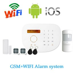 Wholesale Free Sms System - S2G Wireless GSM Alarm system with WIFI Function SIM SMS support APP Control LCD display and Touch panel RFID Card For Free Shipping