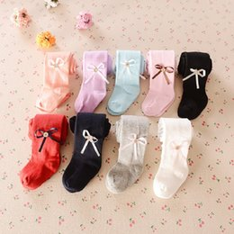 Wholesale Style Underpants Pants Girls - Solid Baby Girls Pantyhose Gold Button Bowties Infant PP Pants Children Leggings With Socks Newborn Underpants Pantynose 0-4year