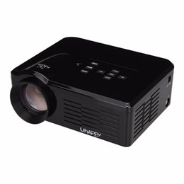 Wholesale Home Theatre Projectors Led - Wholesale-Original Uhappy BL35 Multimedia Mini LED Projector 640*480 Pixels USB SD VGA HDMI AV Micro USB ATV Home Theatre Cinema Proyector