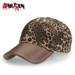 Wholesale Leopard Baseball Cap Wholesale - Wholesale- [AUBREYRENE] 2017 New Leopard Design Baseball Cap Women Fashion Winter Hats for Women Golf Polo Hat Z-3892