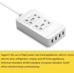 Wholesale Multifunctional Usb Adapter - Smart Power Socket Portable Strip Plug Adapter with 4 USB Port Multifunctional Smart Home Electronics
