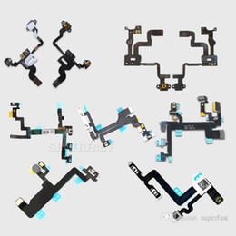 Wholesale Iphone Audio Power - For iPhone 4 4S 5 5C 5S 6 6Plus 6S 6SPlus High Quality Power Button And Volume Audio Control Sensor Flex Cable Replacement DHL Free