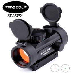 Wholesale Holographic Gun Sight - Fire wolf 1x40 Hunting Tactical Holographic Riflescopes Red Green Dots Optical Sight Scope Adjustable Rifle Gun Scope