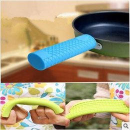 Wholesale Silicone Iron Cover - Silicone Handle Cover For Cast Iron Skillet Holder Protection Sleeve Multicolor Anti-heat Resistant Sleeve CCA6944 100pcs