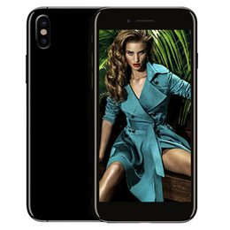 Wholesale Quad Core Ips Smartphone - Goophone ix Dual Back Camera 3G WCDMA Quad Core MTK6580 1.2GHz 1GB 8GB Android 6.0 GPS WiFi 5.5 inch IPS 1280*720 HD Metal Body Smartphone