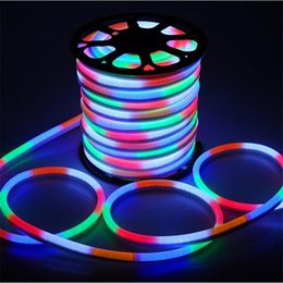 led flex tube lighting Promo Codes - High Quality LED Flex Neon Rope Lights Waterproof Led Neon Tube Flexible Strip Lights Indoor Outdoor Lighting Christmas Decoration Lights
