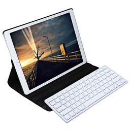 Wholesale Fashion Keyboard - Wireless Bluetooth Keyboard Stylus Pen 360 Degree Rotating PU Leather Smart Case Cover for iPad Pro inch +B