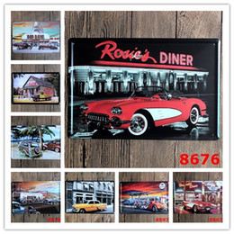 Wholesale Parks Painting - Parking Lot Scenery Nostalgic Ornaments Wall Decor Vintage Craft Art 12x8in Iron Painting Tin Poster Home Furnishing Decorati(Mixed designs)