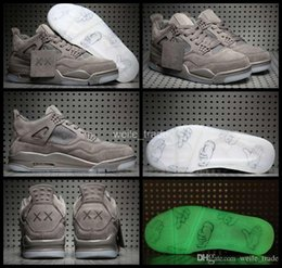 Wholesale Sport Rubber Ball - 2017 New Air KAWS x Air Retro 4 Men Basketball Shoes Cool Grey Retros 4s Sneakers Mens Trainers Basket ball Sports Shoes 8-13